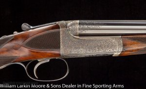 WESTLEY RICHARDS Deluxe Droplock Express .303 Savage Cased in Orig O&L case, Mfg 1907 Near new all original condition