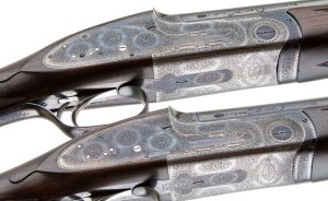 PURDEY BEST QUALITY OVER UNDER PAIR 16 GAUGE KELL ENGRAVED