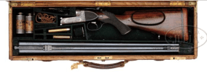 *THE IMMORTAL ERNEST HEMINGWAY'S WESTLEY RICHARDS BEST QUALITY HAND DETACHABLE SINGLE TRIGGER EJECTOR DOUBLE RIFLE W/ORIGINAL CASE.