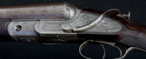 Extremely rare and fine Lefever D Grade 10 Bore Sidecocker with original Bernard Damascus barrels