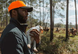 Durrell L. Smith at a field trial in Georgia. Photo by Wil Sensing, Project Upland