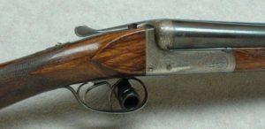 August Lebeau Liege SxS Boxlock Shotgun, 16 Ga