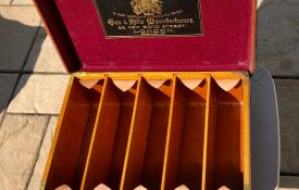 Holland & Holland Best Quality Oak & Leather Shotgun Shell Magazine. Holds up to 500 12-gauge shotgun shells. Made for a British aristocrat.