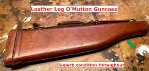 Leather Leg O'Mutton Shotgun case, vintage -- $1 START, NO RESERVE