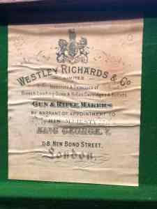 Vintage Westley Richards & Co leather shotgun case for a 20-gauge side-by-side --$1 START, NO RESERVE