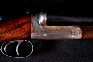 "Beautiful and ultra lightweight 12 bore Charles Hellis 2"" Chambered boxlock SxS game gun"