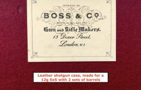 On Ebay now: Boss & Co, London, genuine leather shotgun case for 2-barrel set