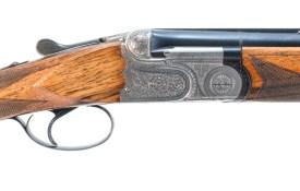 "Lot 112: Beretta model ASEL Over Under shotgun chambered for 2 3/4"" or 3"" 20 gauge:"