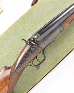 Auguste Francotte 4 Bore hammer shotgun for sale now at Giles Marriott UK