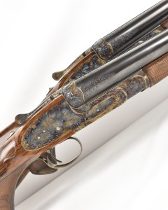 Watson Brothers 4 Bore hand detachable, single trigger, sidelock ejectors, for sale at Giles Marriott, UK