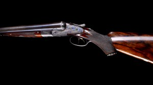 "Stunning, all original 8 gauge Lefever shotgun with 32"" Whitworth fluid steel bbls. Thought to have been made for President Grover Cleveland."