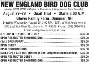 New England Bird Dog Club August 2021 Field Trial