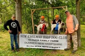 Stitch wins puppy stake at New England Bird Dog Club's August 2021 Field Trial