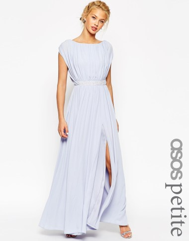 ASOS PETITE Embellished Waist Maxi Dress