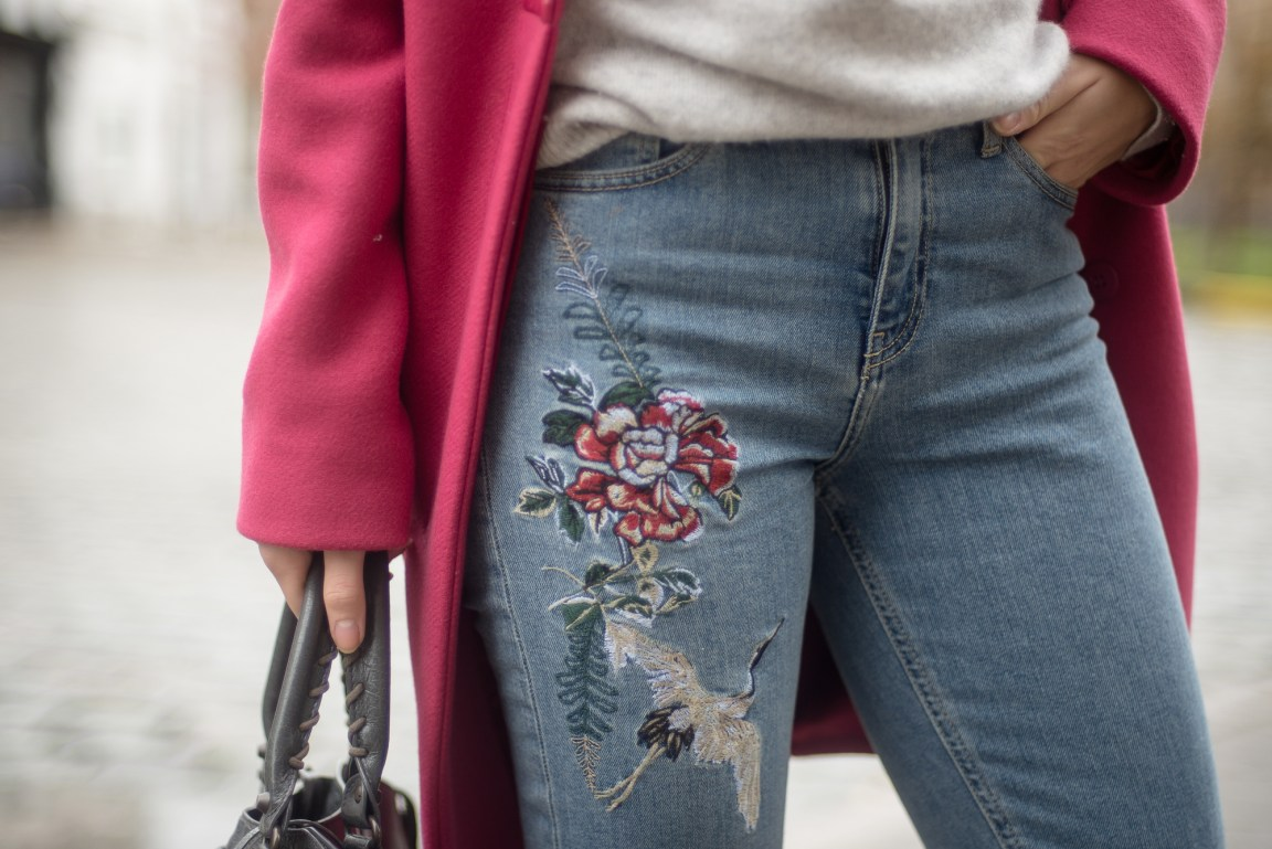 River Island Embroidered Jeans