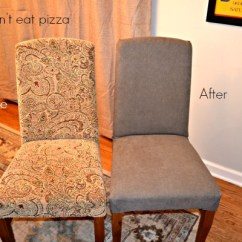 Diy Reupholster Living Room Chair Decor Ideas For Pictures How To Parsons Chairs Mohawk Home Reupholstered Before And After Homescapes