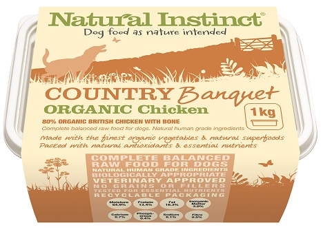 Natural Instinct country organic chicken dog food