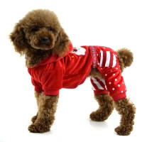 Fashion embroidered four-legged Christmas Dog clothing ...