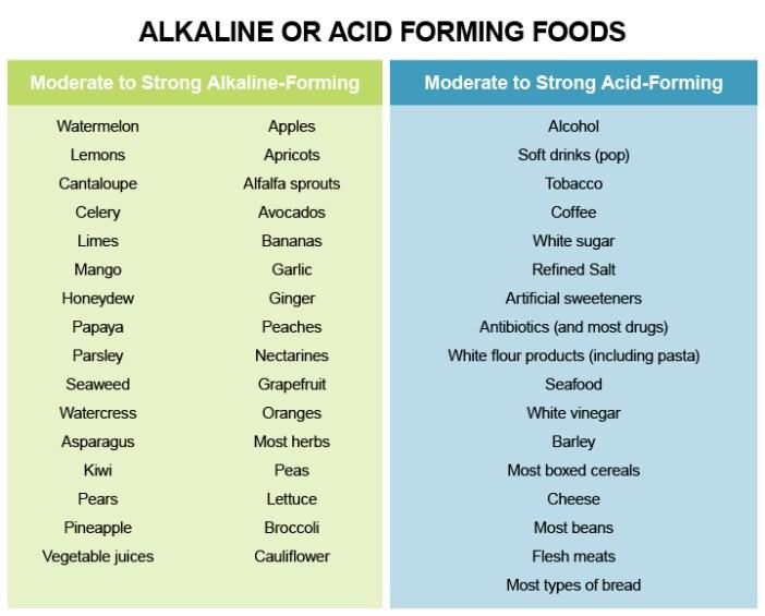 Alkaline or Acid Forming Foods-DNM