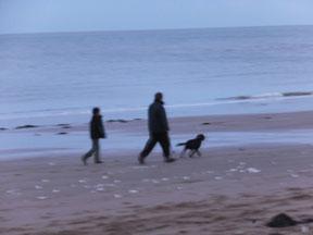 Dog walkers at North Foreland