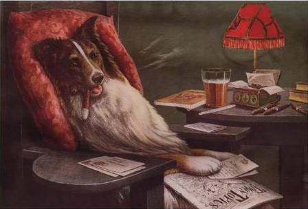 A Bachelors Dog by Cassius Marcellus Coolidge