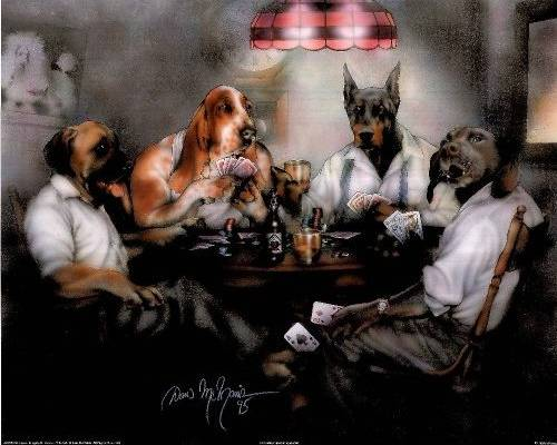 Poker by Dan McManis  DogsPlayingPokerorg
