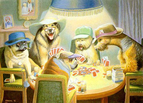 Card Players by Bryan Moon  DogsPlayingPokerorg