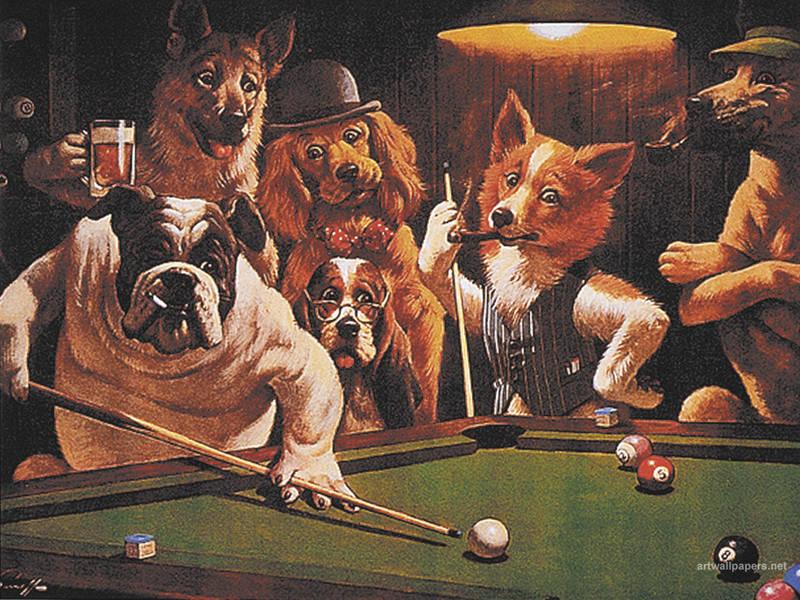 Hustler by Arthur Sarnoff  DogsPlayingPokerorg