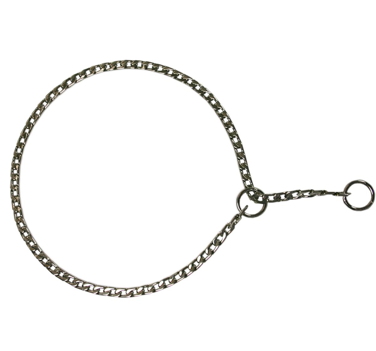Silver Choker Thin Link Medium Dog Choke Chain