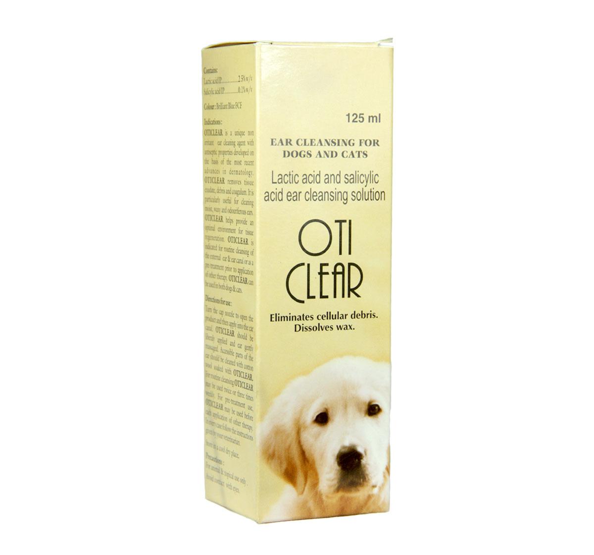 Cipla Oti Clear Ear Cleanser For Dog & Cat - 125 ml ...