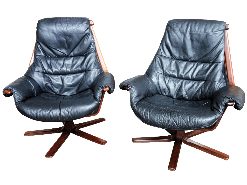swedish leather recliner chairs black lounge chair swivel  sold dogs republic