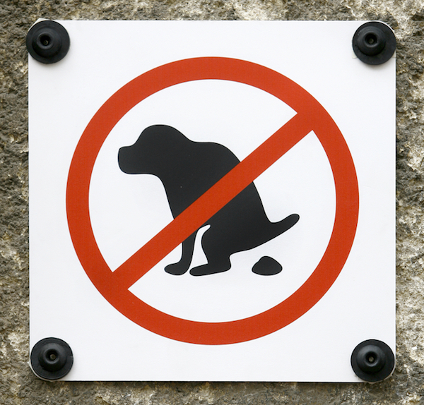 No pooping sign by Shutterstock.