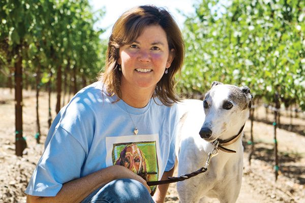 Brenda Lynch and her beloved dog, Patches.