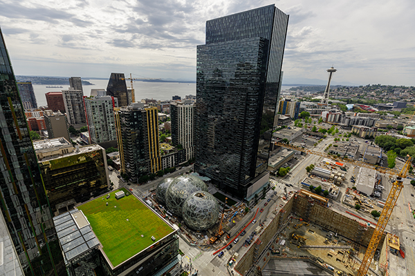 Amazon's Seattle headquarters include a dog park.