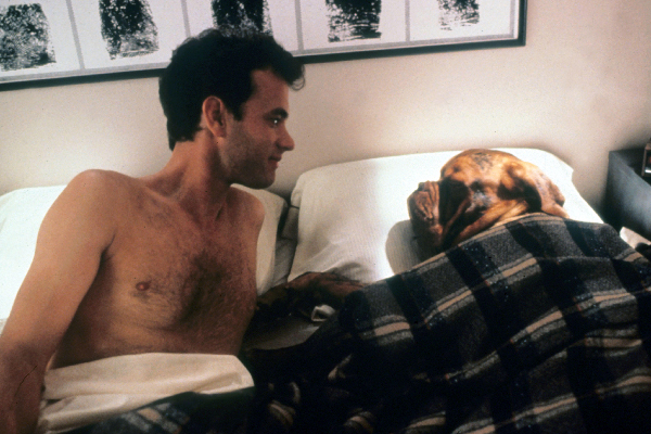 Tom Hanks and the dog in Hooch and Turner.