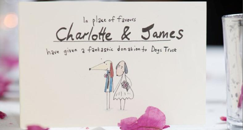 Personalised Wedding Favour Cards From Dogs Trust