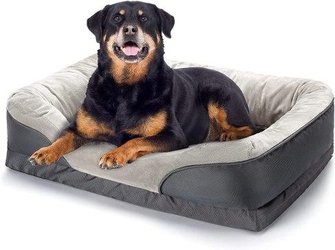Panier pour chien a memoire de forme