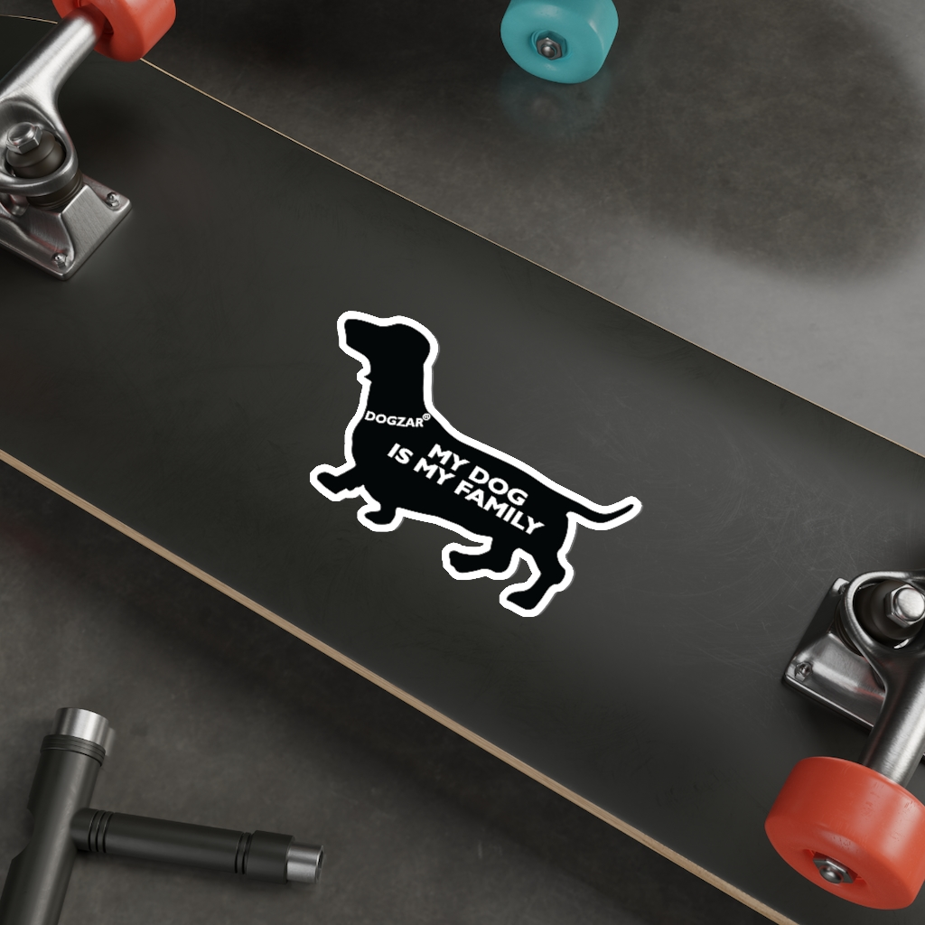 DOGZAR® My Dog is My Family Vinyl Sticker - Dachshund