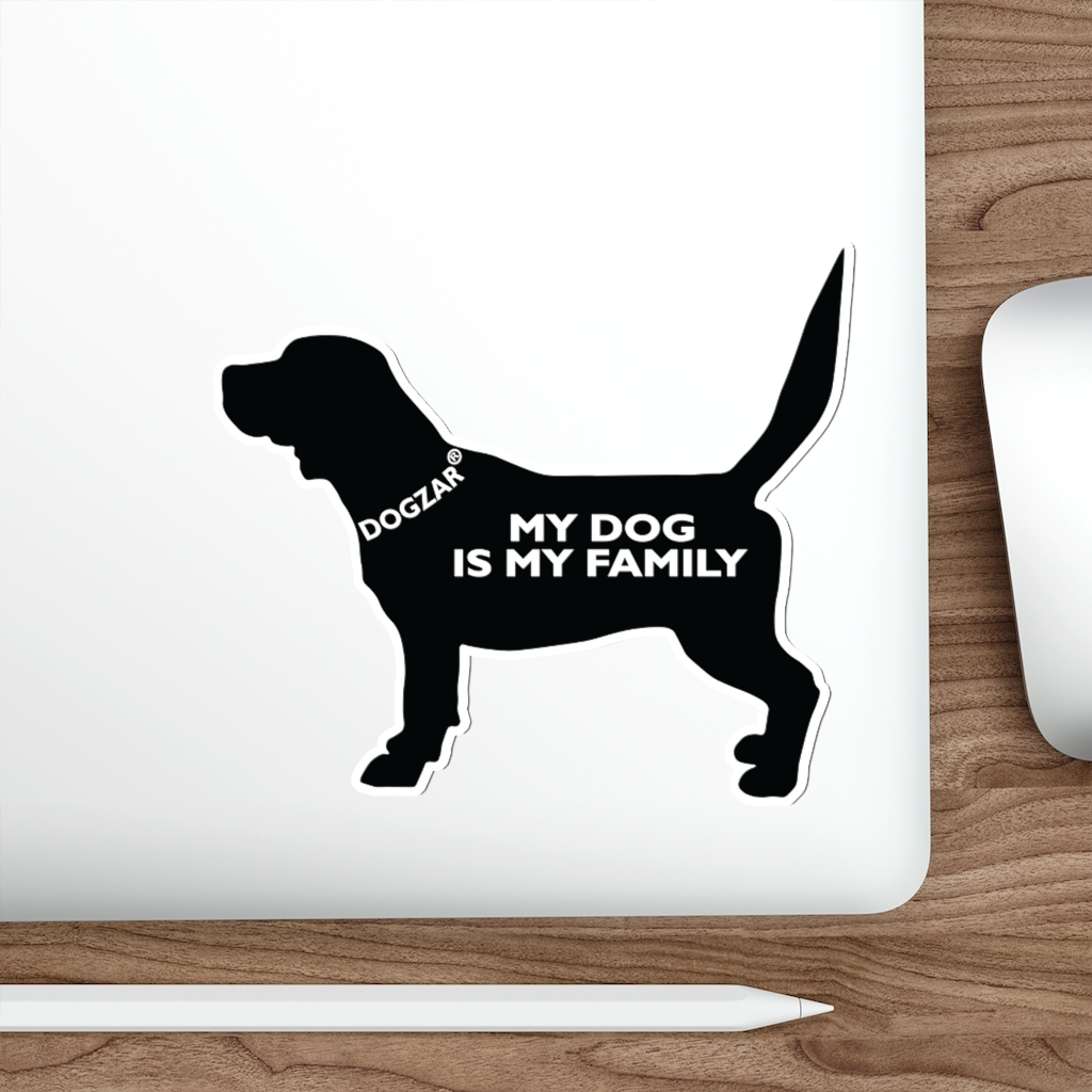 DOGZAR® My Dog is My Family Vinyl Sticker - Beagle