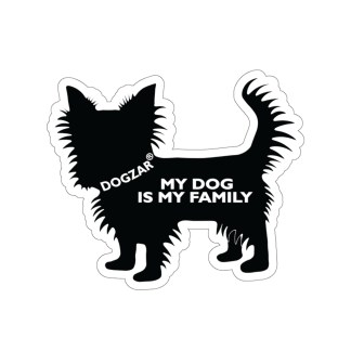 DOGZAR® My Dog is My Family Vinyl Sticker - Yorkshire Terrier