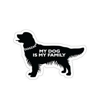 DOGZAR® My DOG is My Family Vinyl Sticker - Golden Retriever