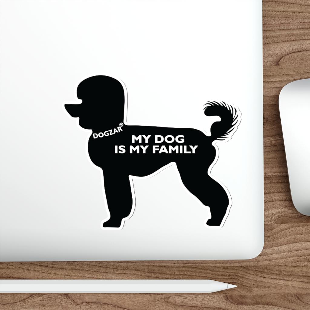 DOGZAR® My DOG is My Family Vinyl Sticker - Poodle (Modern Cut)