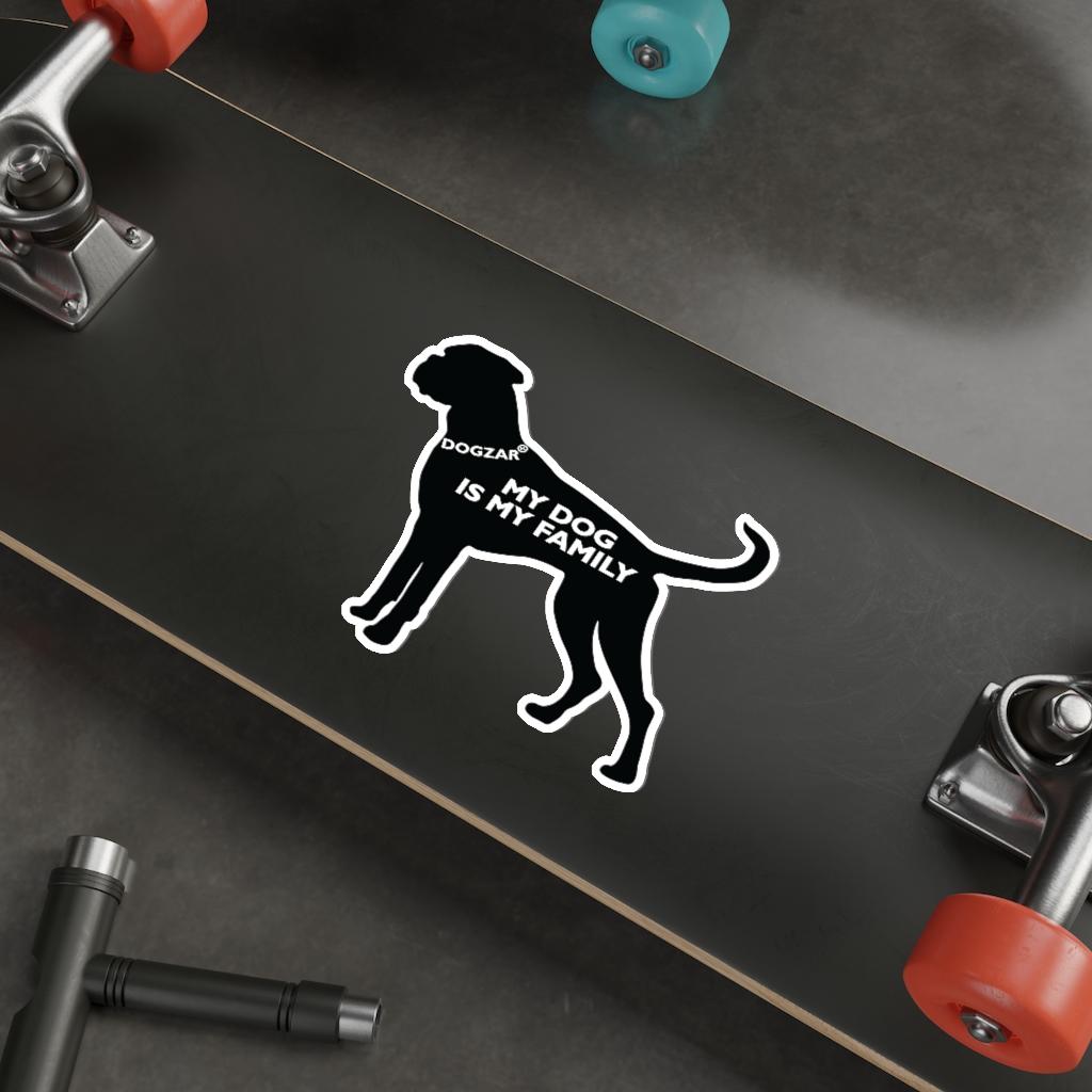 DOGZAR® My DOG is My Family Vinyl Sticker - Boxer