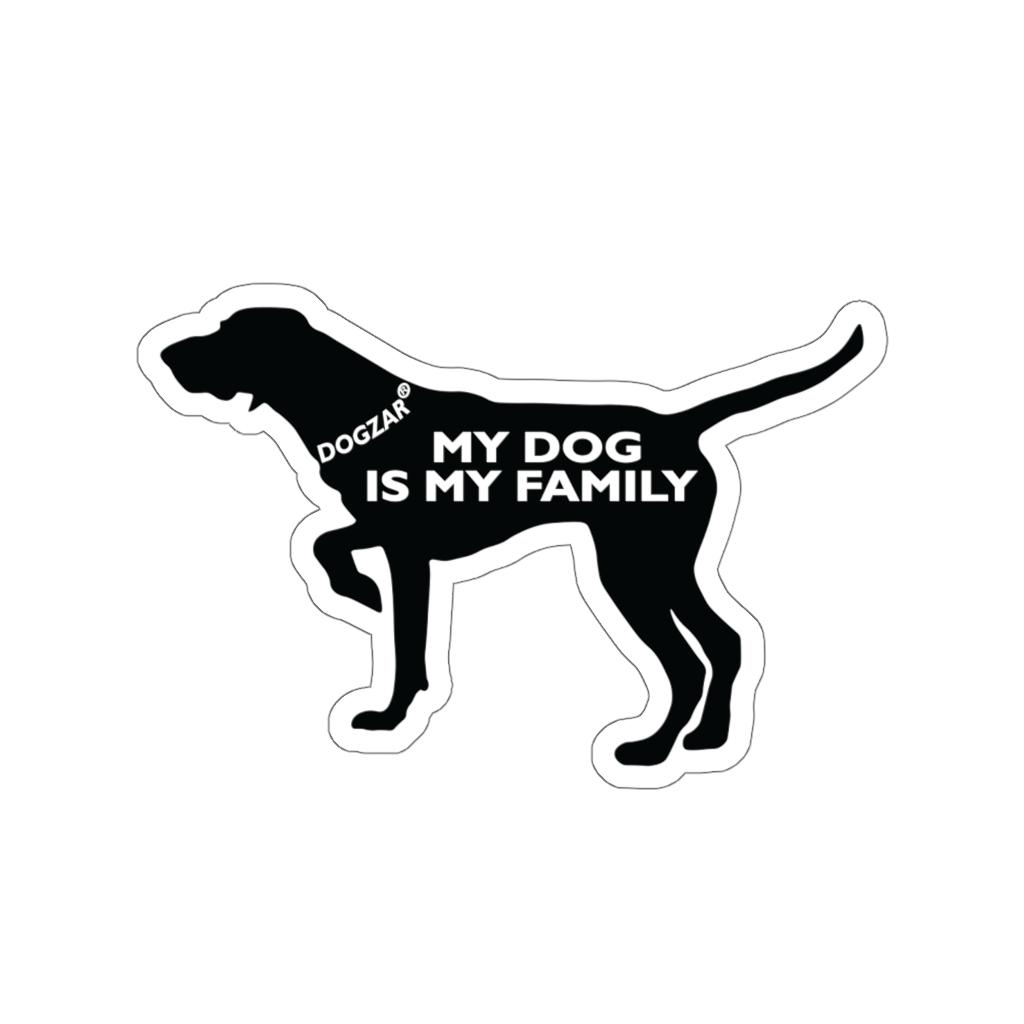 DOGZAR® My DOG is My Family Vinyl Sticker - German Shorthaired Pointer