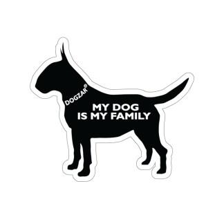 DOGZAR® My DOG is My Family Vinyl Sticker - Bull Terrier