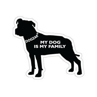 DOGZAR® My DOG is My Family Vinyl Sticker - Pit Bull