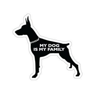 DOGZAR® My DOG is My Family Vinyl Sticker - Doberman Pinscher