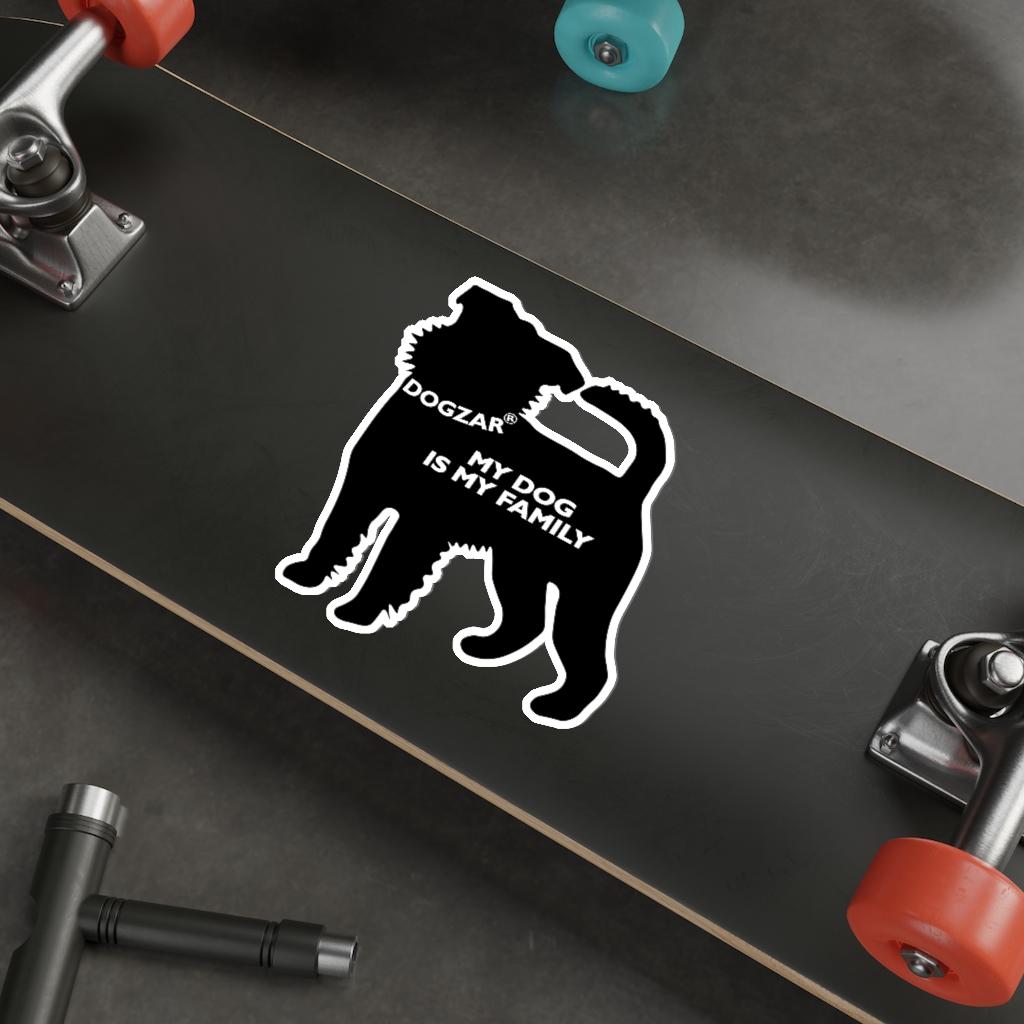 DOGZAR® My Dog is My Family Vinyl Sticker - Brussels Griffon