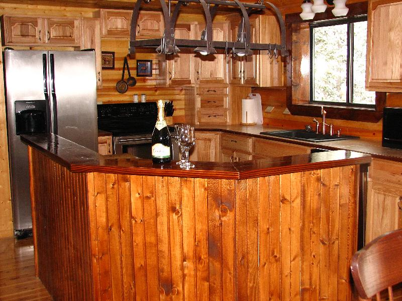 The cabin is approximately 3000 sq feet including the heated garage