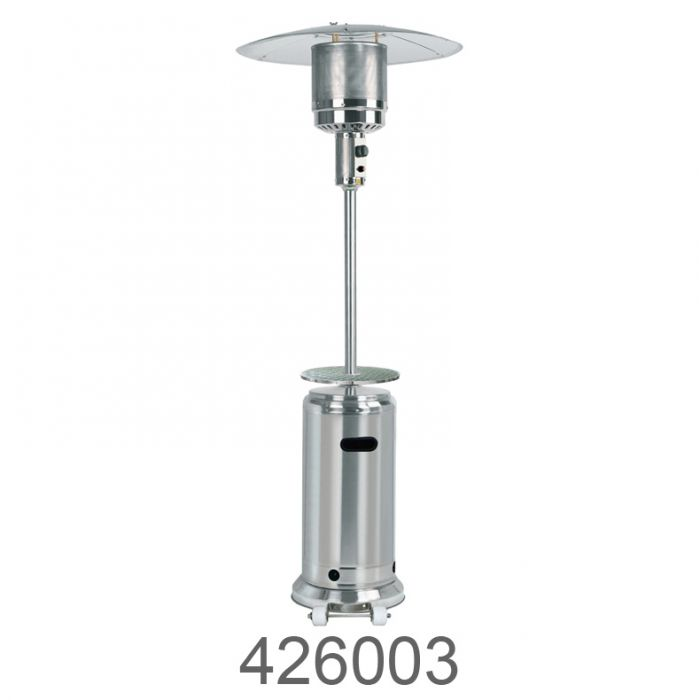 az patio heaters 87 in tall outdoor patio heater with table stainless steel
